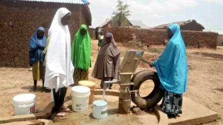 13-year-old-Maliya-Abubakar-Fetching-Water-from-a-Borehole-at-Unguwan-Damaru-Community-Soba-Local-Government-Area-of-Kaduna-State-Provided-by-UNICEF-DFID-and-the-state-Government-under-S