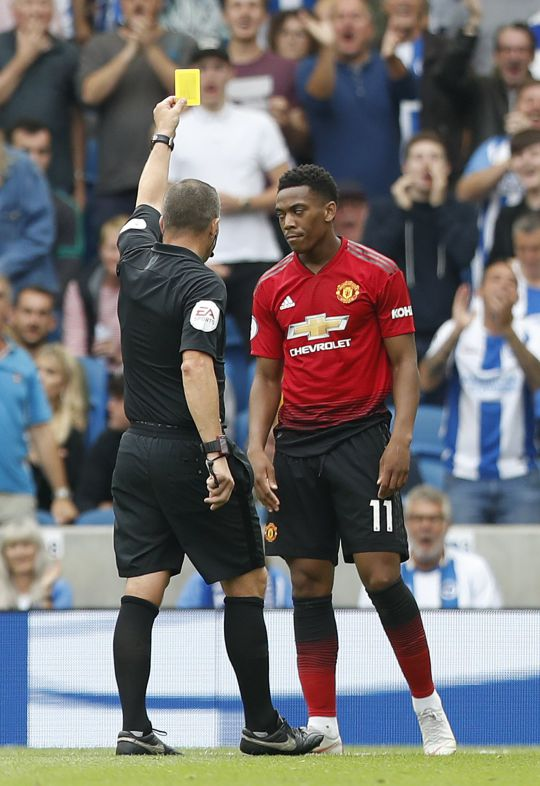 Anthony Martial was dropped from the squad after United_s defeat to Brighton